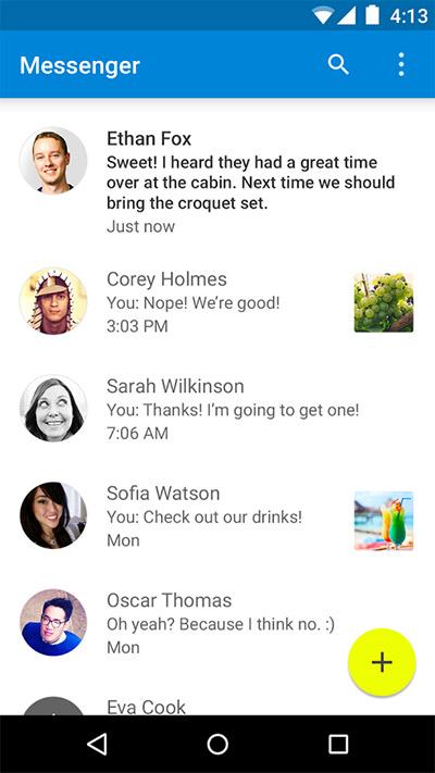 Google Messenger en Android