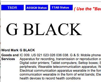 LG G Black Patente