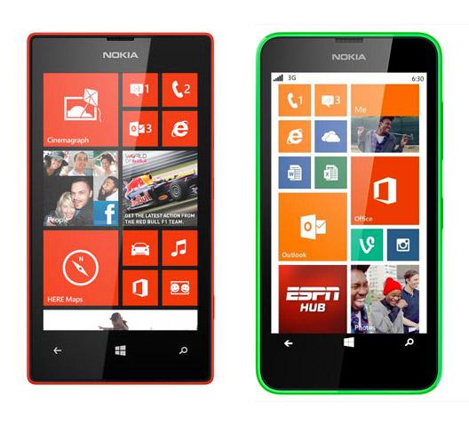 Nokia Lumia 520 y 630