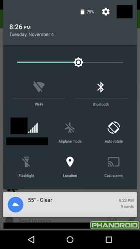 Moto X opciones de Android 5.0