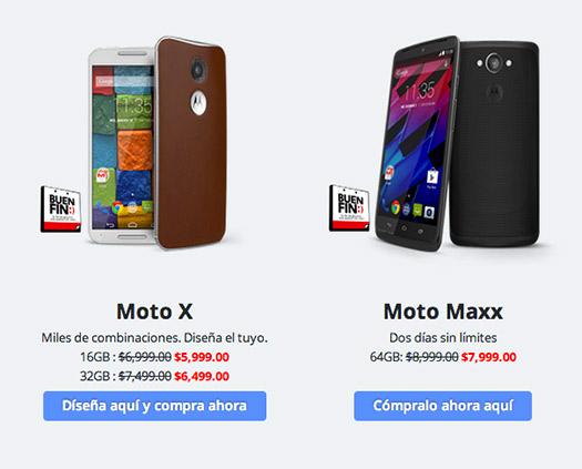 Motorola México anuncia descuentos del Buen Fin para sus Moto G, Moto X y Moto Maxx