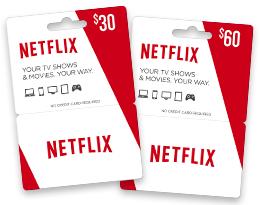 Netflix tarjetas de regalo (Gift Cards)