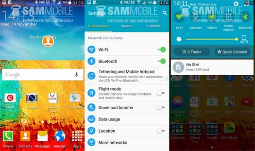 Capturas de Android 5.0 Lollipop en Galaxy Note 3