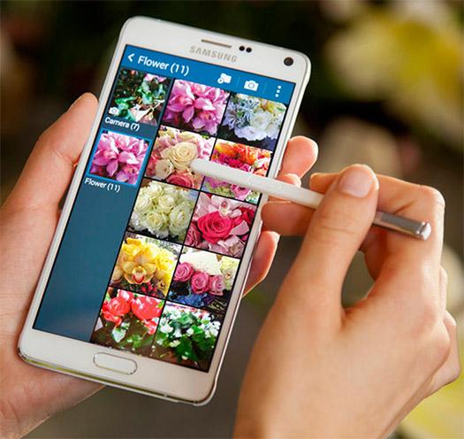 El Samsung Galaxy Note 4 pantalla viendo galería