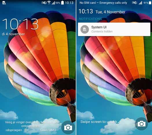Pantallas Galaxy S4 con KitKat y Lollipop