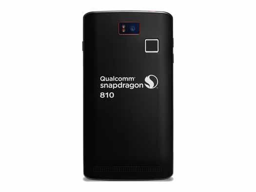 Smartphone Intrinsyc con Qualcom Snapdragon 810 posterior