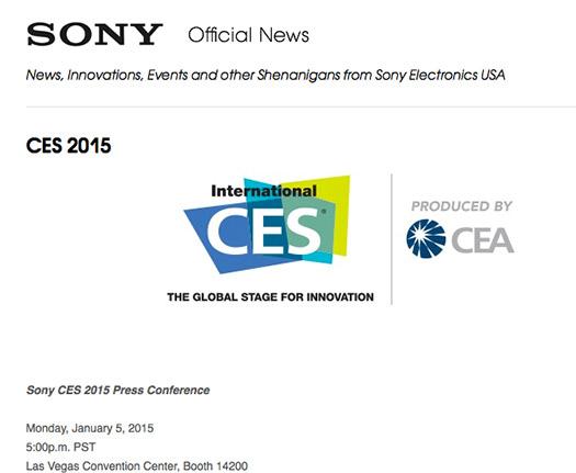 Sony CES 2015 anuncio