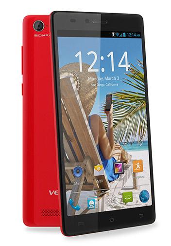 Verykool S5510 Juno un phablet Android KitKat  en México color rojo