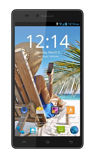 Verykool S5510 Juno un phablet Android KitKat en México color azul frente pantalla