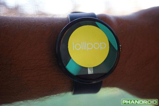 Android Wear Lollipop en smartwatch