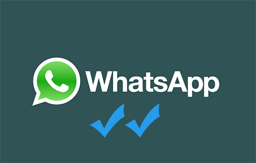 WhatsApp logo blue double check