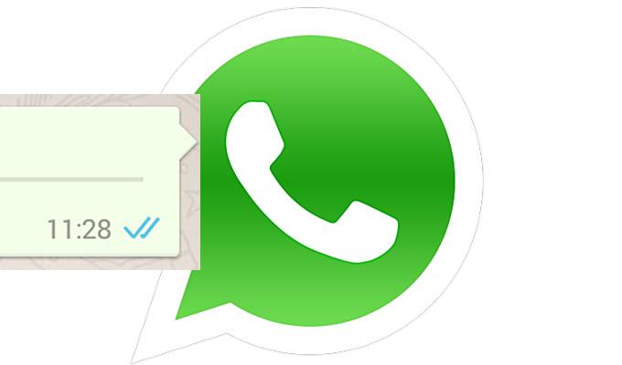 WhatsApp doble check azul logo