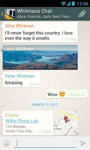 WhatsApp con cifrando los mensajes