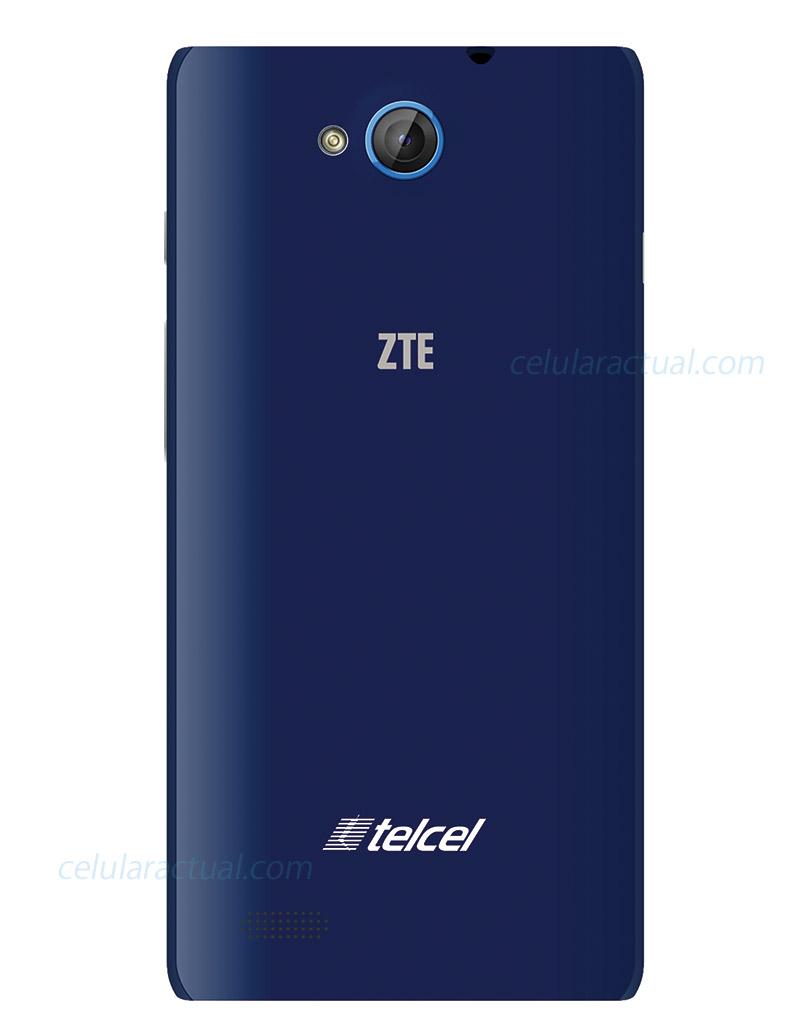 ZTE Blade G Lux en México con Telcel posterior cámara de 8 MP color azul