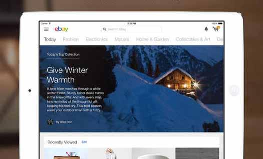 App eBay para iPad