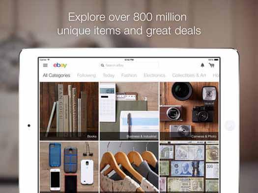 App de eBay para iPad captura