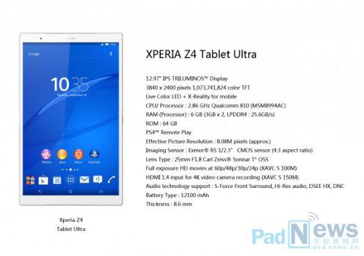 filtracion-especificaciones-xperia-z4-tablet