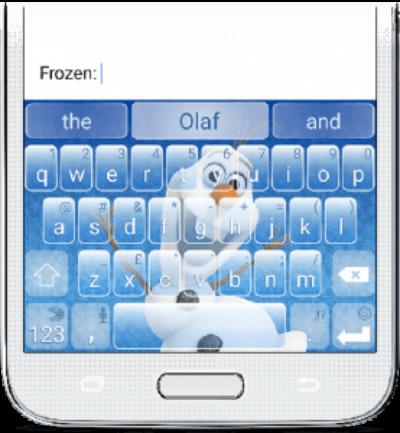 frozen-keyboard-olaf-swiftKey