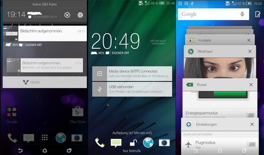 Interfaz HTC con Android Lollipop
