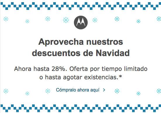 Motorola oferta navideña 2014 en México