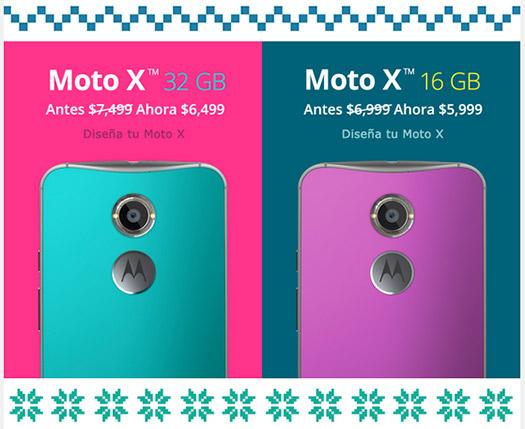 Motorola oferta navideña 2014 en México; Moto X segunda