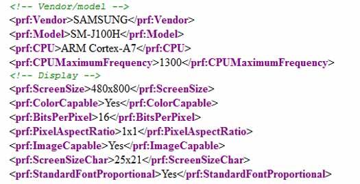 Samsung SM-J100H filtrado
