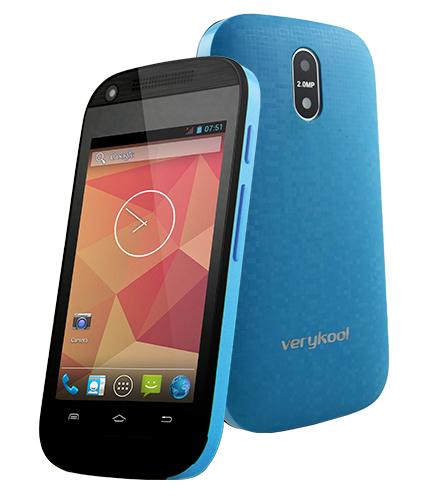 Verykool S3501 LYNX color azul posterior y pantalla
