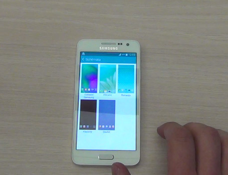 Video del Galaxy A3 con los Themes del TouchWIz de Samsung