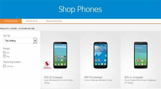 Alcatel Shop Phones