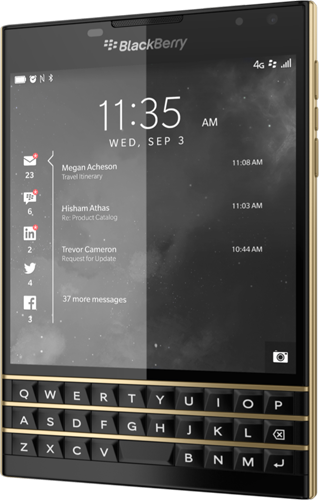 BlackBerry Passport Limited Edition Black & Gold