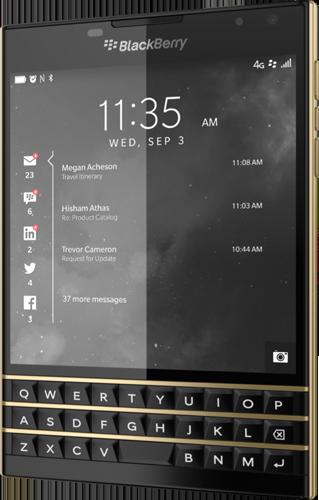 BlackBerry Passport Limited Edition Black & Gold