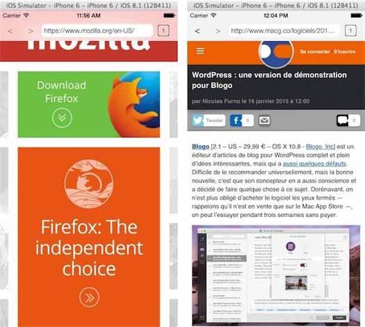 Firefox para iOS capturas
