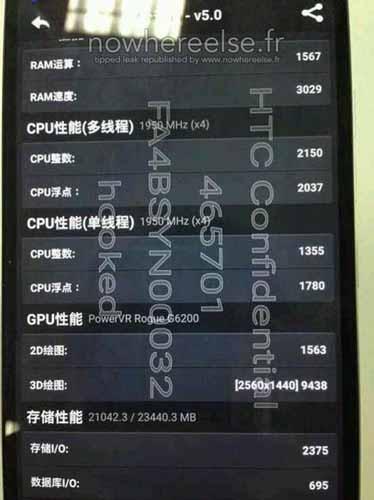 HTC One M9 Plus especificaciones filtradas