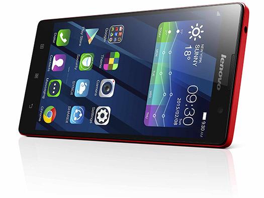 Lenovo P90 pantalla de lado