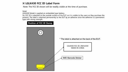 LG LK430 tablet en FCC