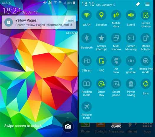 Android Lollipop en Galxy S4