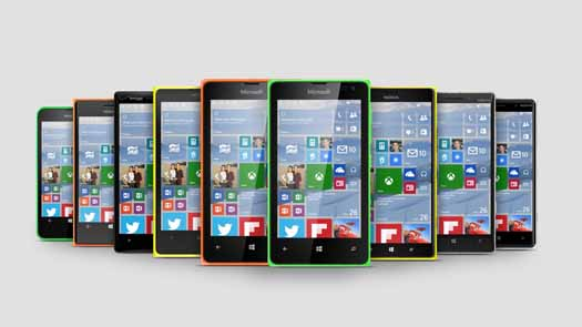 Serie Lumia con Windows 10