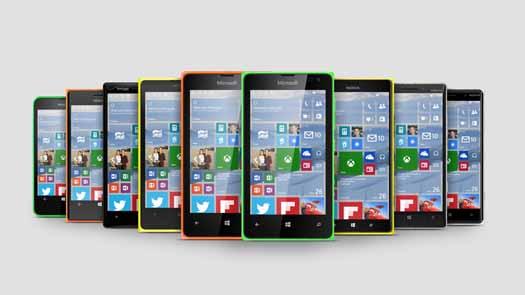 Serie Lumia con Windows 10