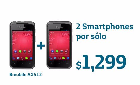 Movistar México Bmobile AX512 2x1 promoción