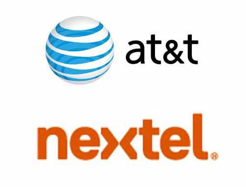 AT&T y Nextel logos