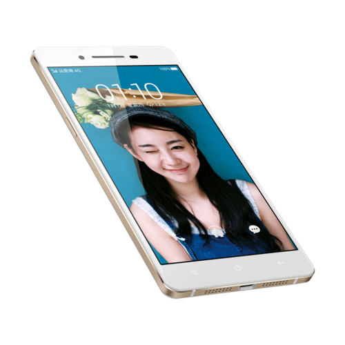 "Oppo RC1 color blanco de lado pantalla de 5"" HD"