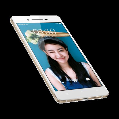 """Oppo RC1 color blanco de lado pantalla de 5"""" HD"""