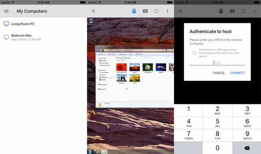 Chrome Remote Destkop  en iOS
