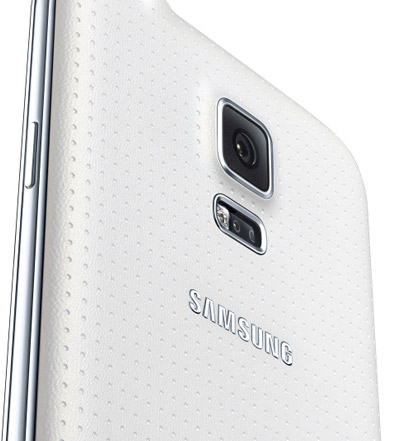 Galaxy S5 detalle en color blanco