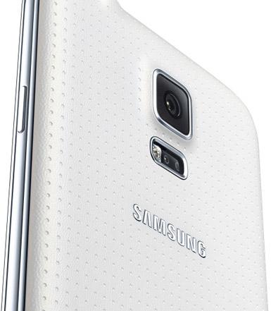 Galaxy S5 detalle en color blanco