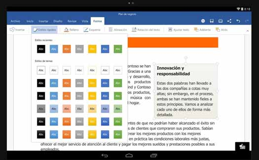 Office Word para Android