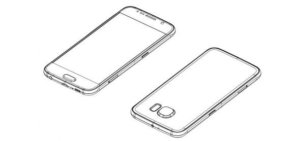 Esquema del Galaxy S6 de Samsung pantalla y cámara trasera