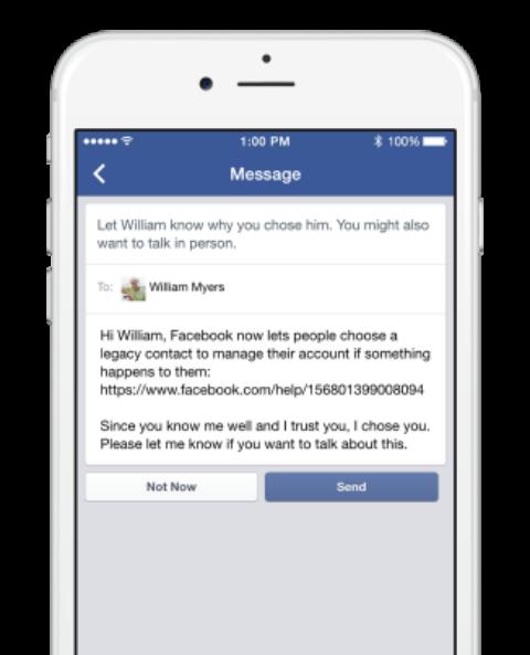 facebook-contacto-heredero-mensaje