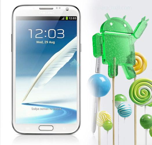 Galaxy Note II con Android Lollipop