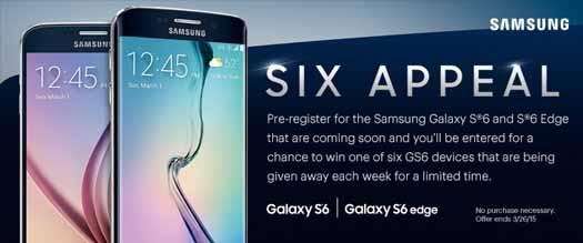 Galacy S6 y S6 Edge en promo Sprint